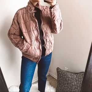 free people - rare dolman quilted jacket oversized
